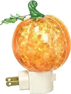 Roman Pumpkin Plug in Night Light with Swirling Confetti, 7-Inch