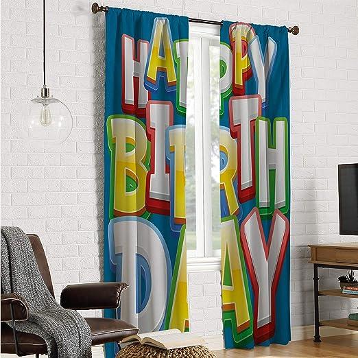 Mozenou Cortina para Sala de Estar, para niños, cumpleaños ...