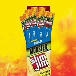 Slim Jim Monster Mild Meat Stick, 1.94 Oz. (Pack Of 18)