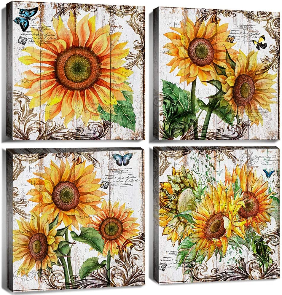 Sunflower Wall Decor For Kitchen