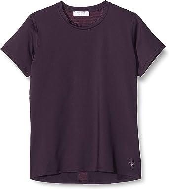Marca Amazon - AURIQUE Camiseta Deportiva con Panel de Rejilla Mujer: Amazon.es: Ropa y accesorios