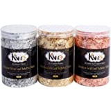 KINNO Gilding Flakes - Color 2.5 Imitation Gold, Silver, Color 0 Real Copper, 3 Bottles Metallic Foil Flakes for…