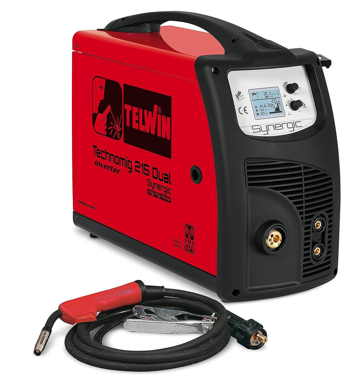 Telwin TE-615053 Equipo de soldadura de hilo, 2.2 W, 230 V, Rojo y negro