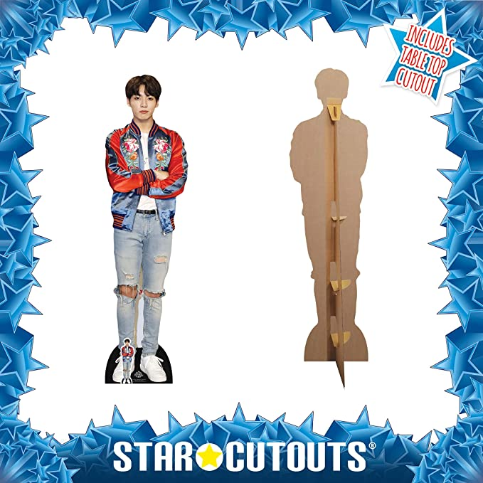 Red Jacket Bts Bangtan Boys Star Cutouts Ltd CS749 Jungkook Lifesize Cardboard Cutout with Free Desktop Cutout of Jeon Jung-Kook
