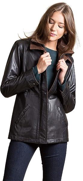 Amazon.com: Rory Piel de cordero chamarra de piel: Clothing