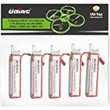 5 Genuine UDI RC 3.7V 500mAh Rechargeable Li-Po Batteries for USA Toyz UDI U818A, U818A-1, U818A HD, U818A HD+ 2.4GHz 4 RC Quadcopter Drone NOT COMPATIBLE WITH U818A WIFI FPV MODEL