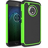 SYONER Moto G5 Plus Case, [Shockproof] Defender Phone Case Cover for Motorola Moto G5 Plus 2017 Released [Green]