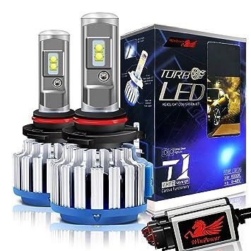 WinPower Hir2 / 9012 LED Bombillas de los faros Todo en uno Kit de conversión 70W 7200 lúmenes 6000K Blanco frio, 2 Piezas: Amazon.es: Coche y moto