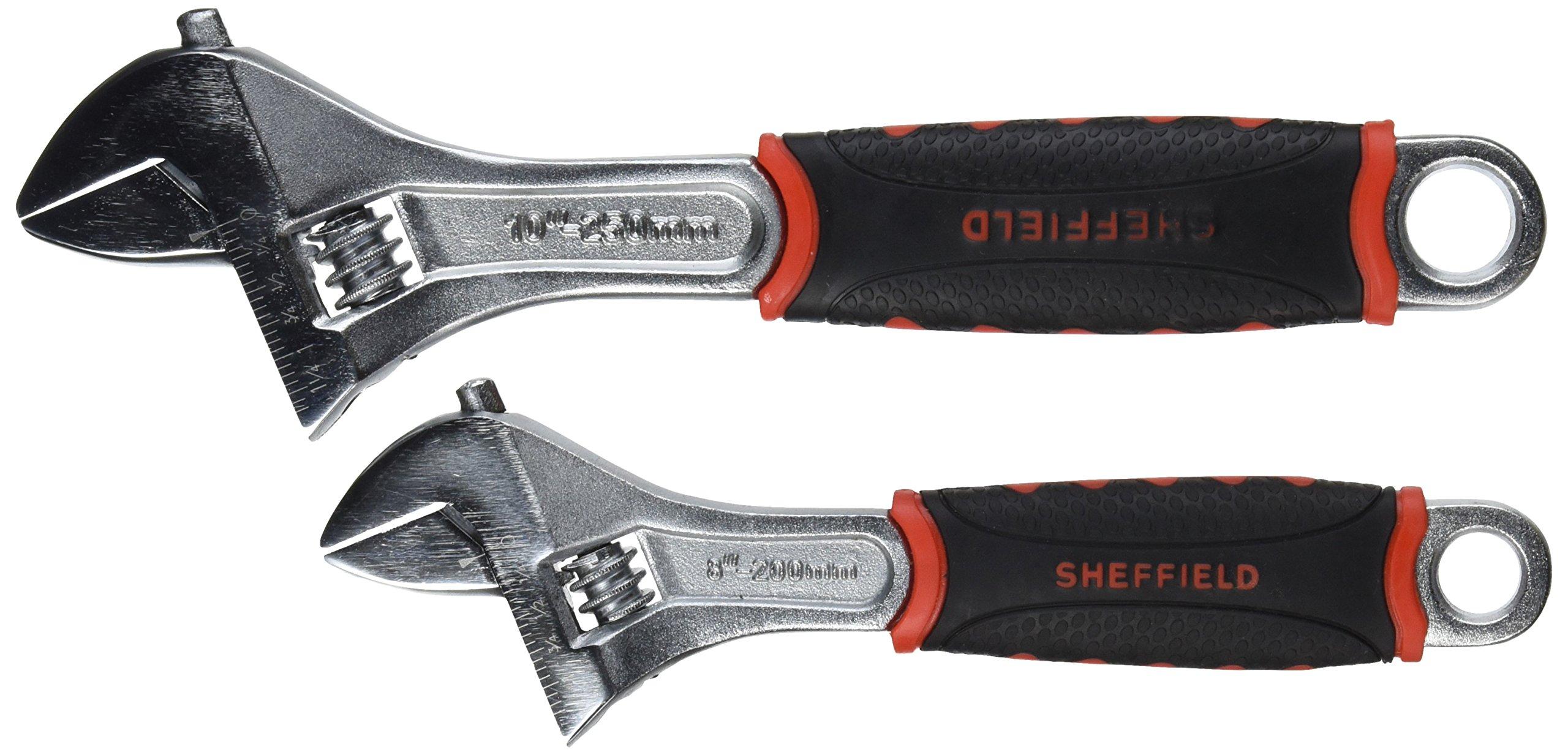 Sheffield 58530 2-Piece Adjustable Wrench Set
