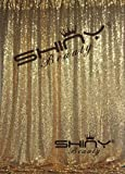 ShinyBeauty Sequin Backdrop - Backdrop Photography and Photo Booth Backdrop for wedding/Party/Photography/Curtain/Birthday/Christmas/Prom/Other Event Decor - 4FTx6FT(48inx72in) (gold)