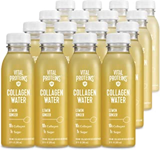 product image for Vital Proteins Collagen Water™, 10g of Collagen per Bottle & Made with Real Fruit Juice, Dairy & Gluten Free - Lemon Ginger, 16 Pack