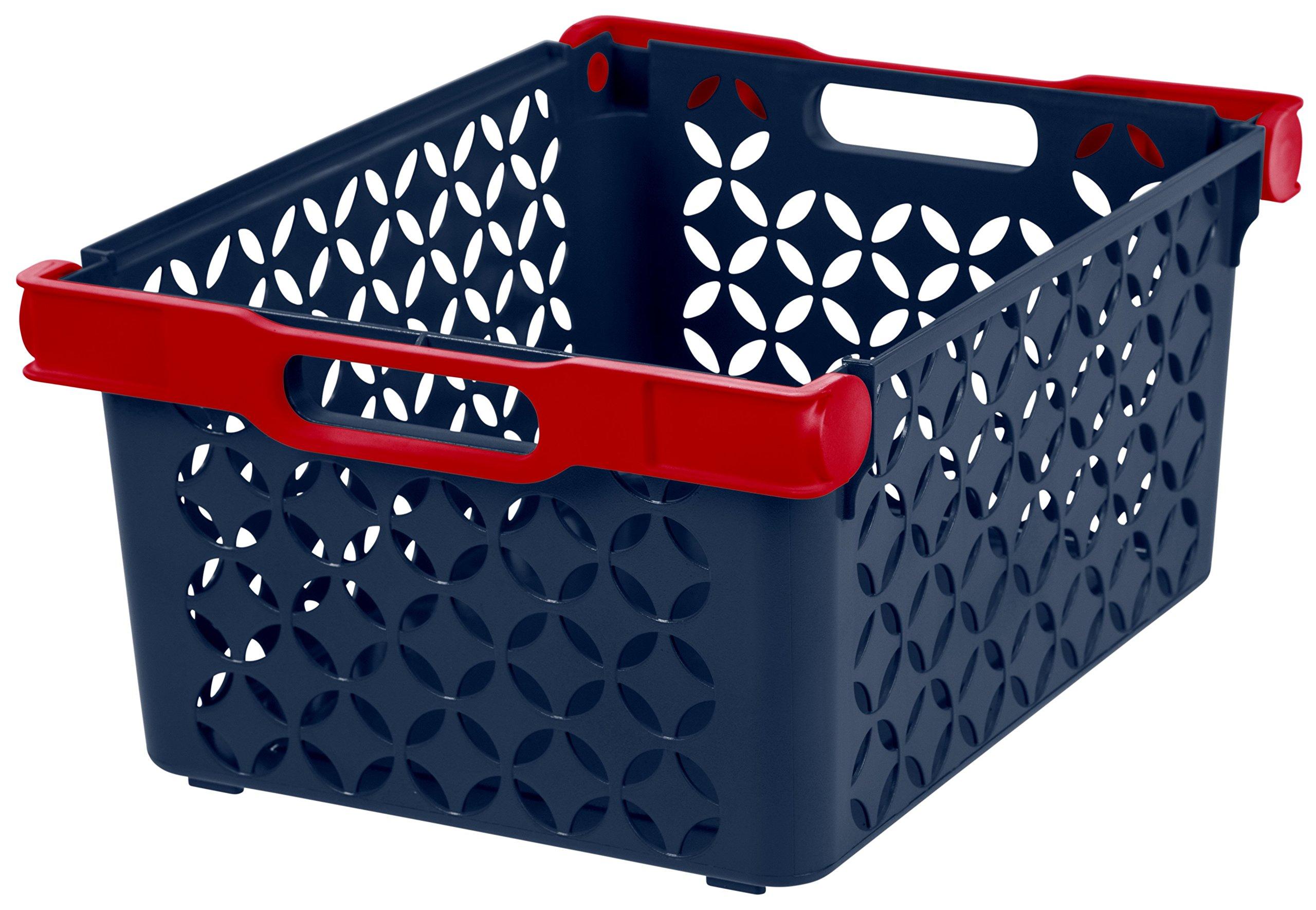 IRIS Boy's Large Decorative Basket, 8 Pack
