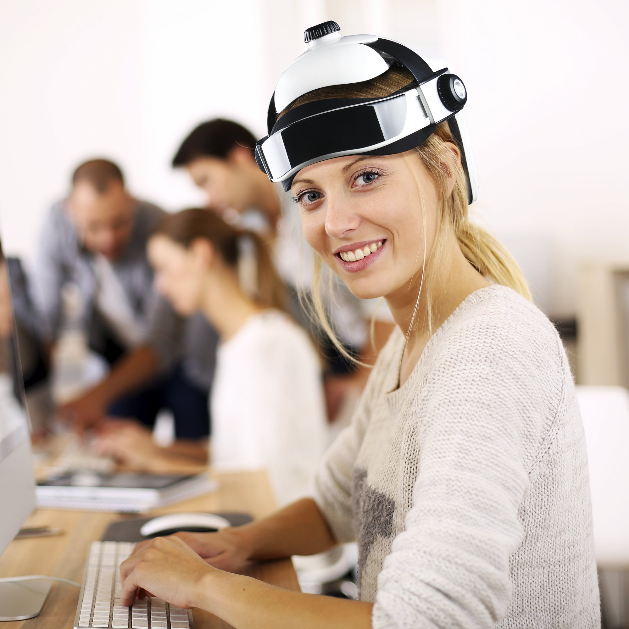 REAQER Electric Head Massager Multifunctional Massage Helmet with Soothing Music and Air Pressure to Relax and Relieve The Headache by REAQER (Image #7)