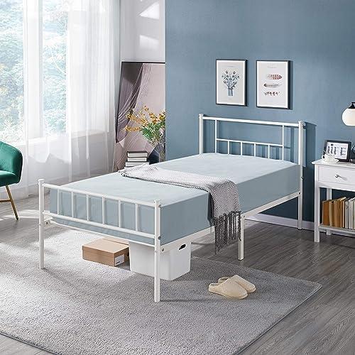 YAHEETECH Twin Size Platform Metal Bed Frame