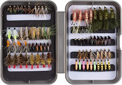 240 Preselected California  Trout Fly Assortment /& Fly Box U Pick Flies
