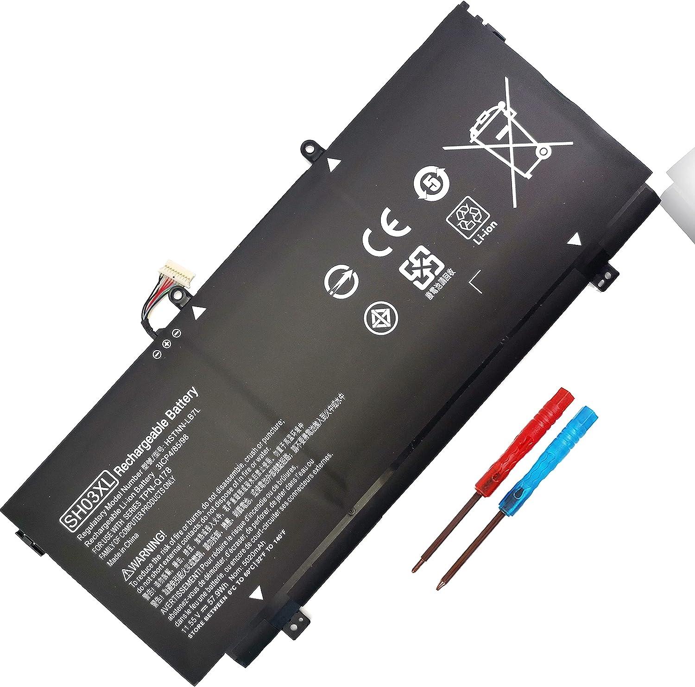 SH03XL HSTNN-LB7L 859026-421 Laptop Battery for Hp Spectre X360 13-AC013DX 13-AC033DX 13-W002NG 13-W003NG 13-W013DX 13-W023DX 13-W031NG 13-W033NG Series 901308-421 859356-855 TPN-Q178 (Connector-30MM)