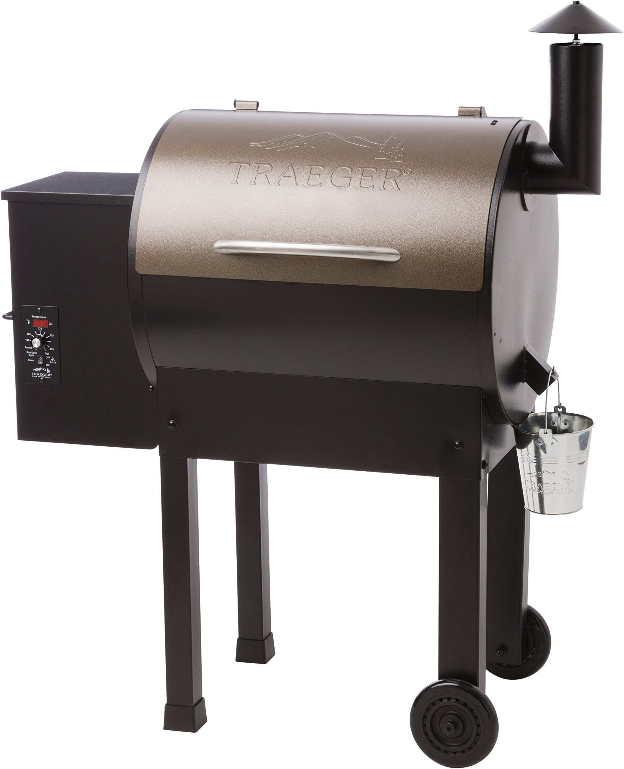 Traeger TFB42LZB Lil Tex Elite 22 Grill and Smoker 418 Sq. in. Cooking Capacity