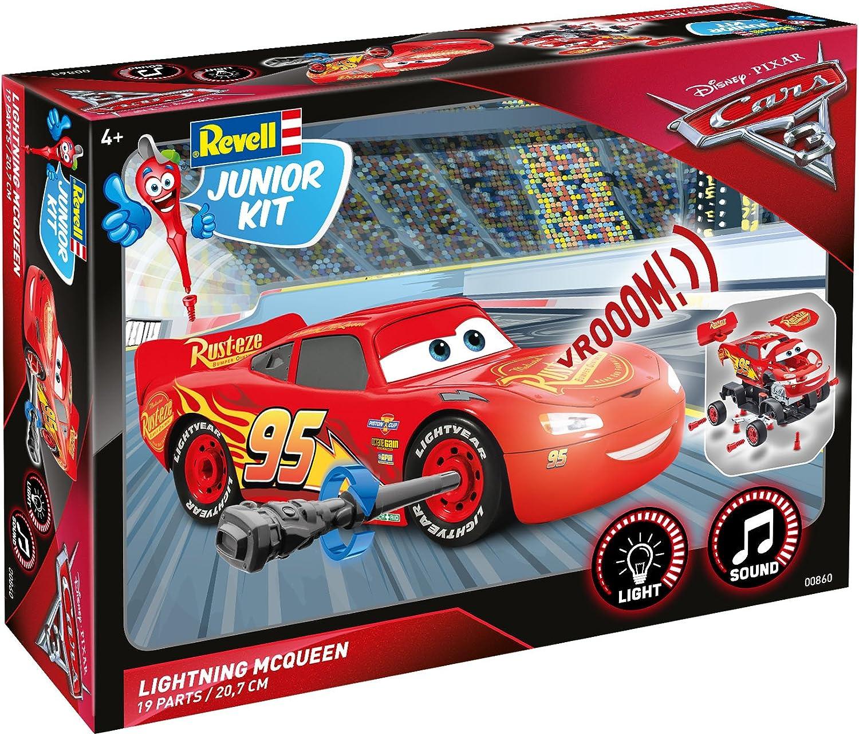 Lightning McQueen von Revell Junior Kit Disney Cars 3 Basteln und Spielen 00860 cooler Bausatz f/ür Kinder ab 4 Jahren zum Schrauben mit Light /& Sound Effekten robust