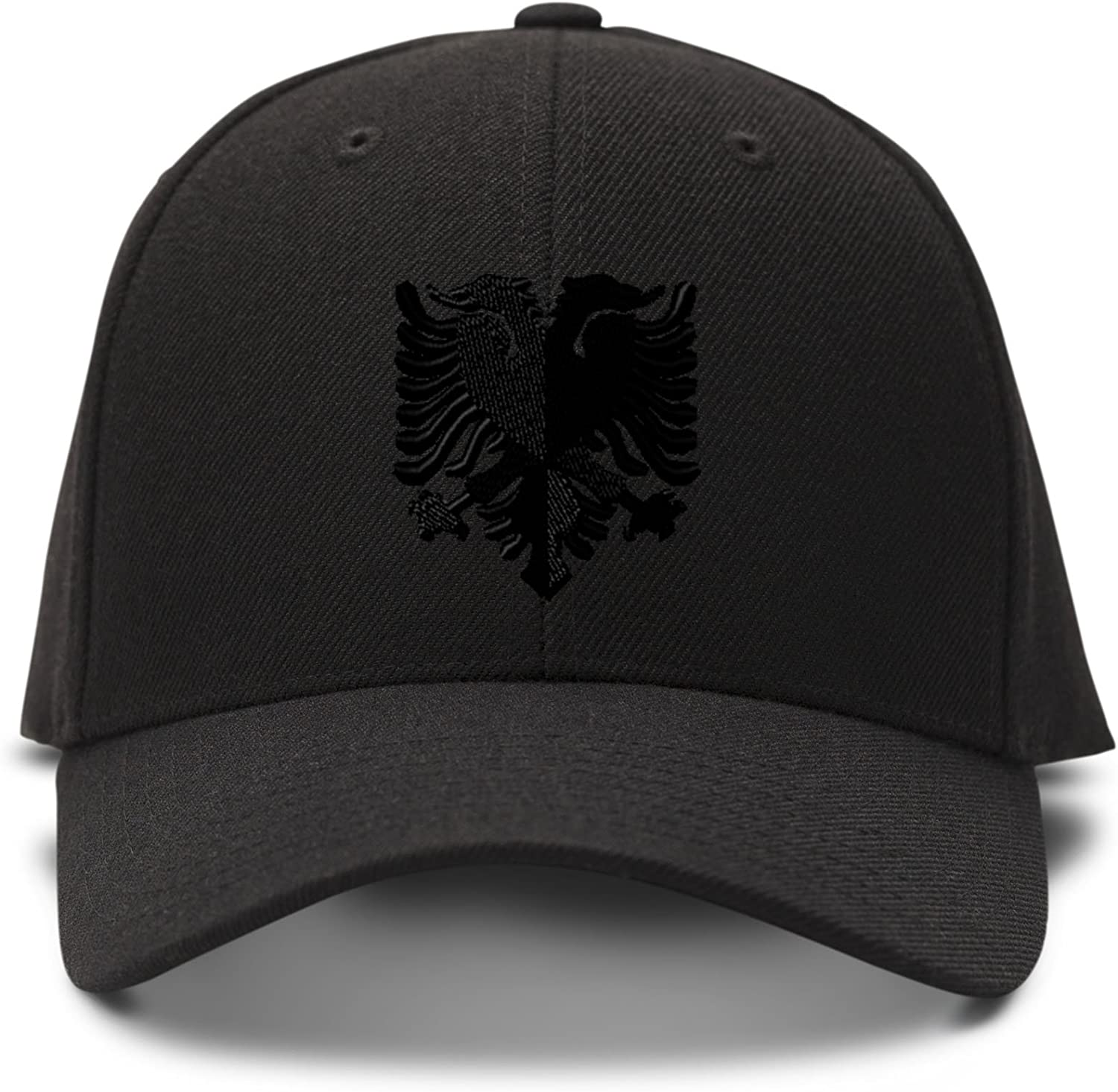Speedy Pros Albanian Black Embroidered Adjustable Structured Baseball Hat, One Size
