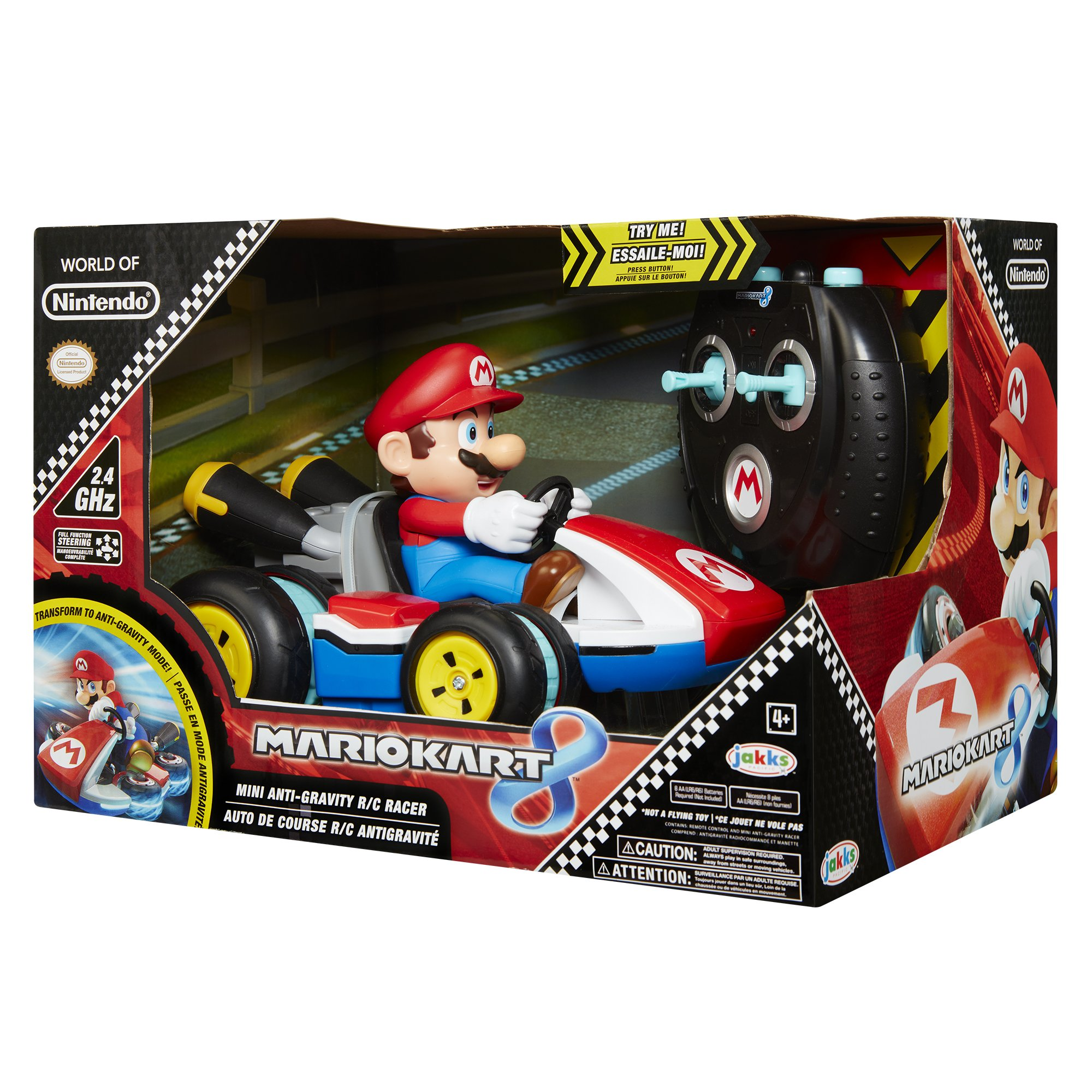 NINTENDO Super Mario Kart 8 Mario Anti-Gravity Mini RC Racer 2.4Ghz by Nintendo (Image #7)