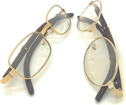 Fashion Clear Lens Unisex Aviator Shades Eyeglasses Glasses Gold Metal Frame