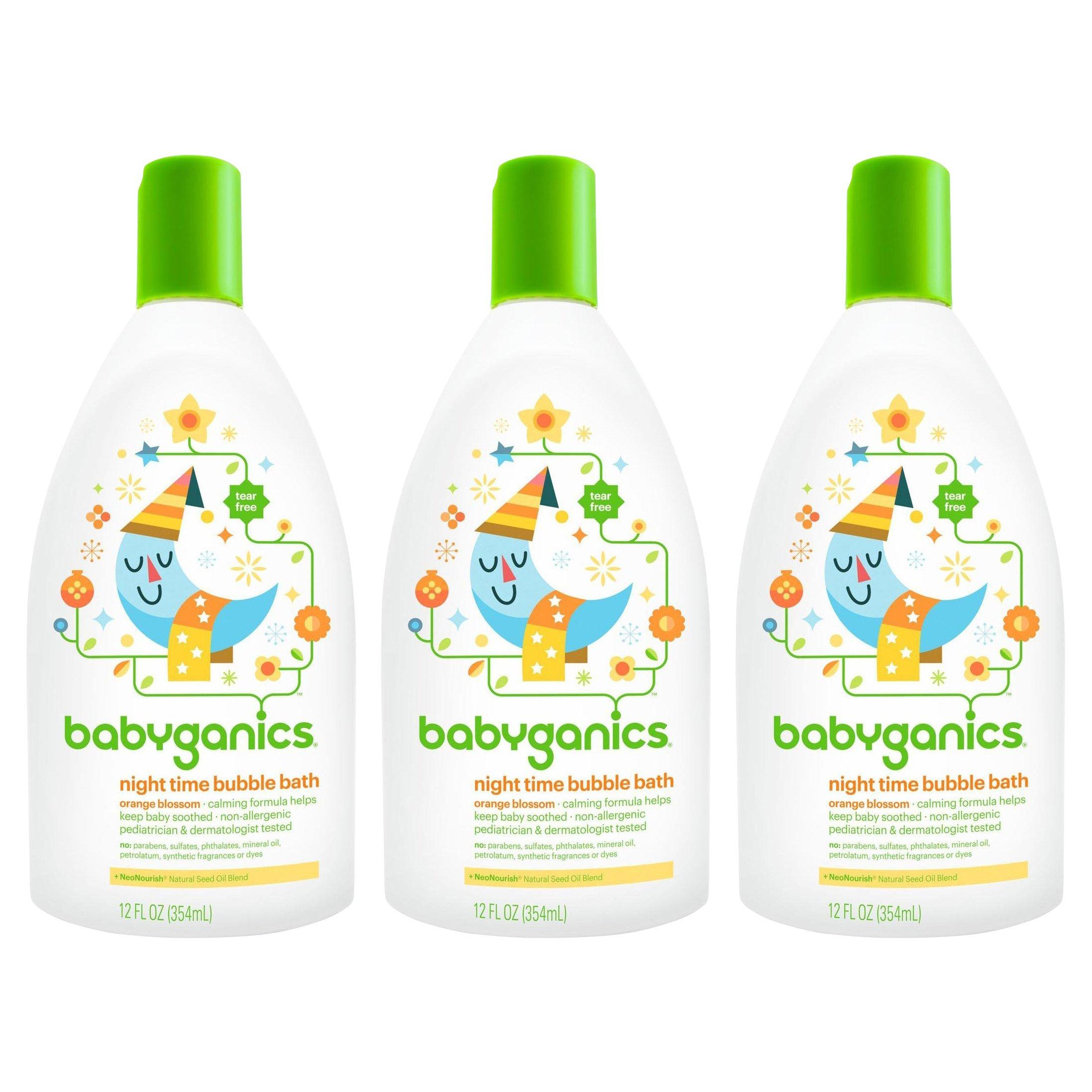 Babyganics Baby Bubble Bath, Orange Blossom, 12oz Bottle, (Pack of 3)