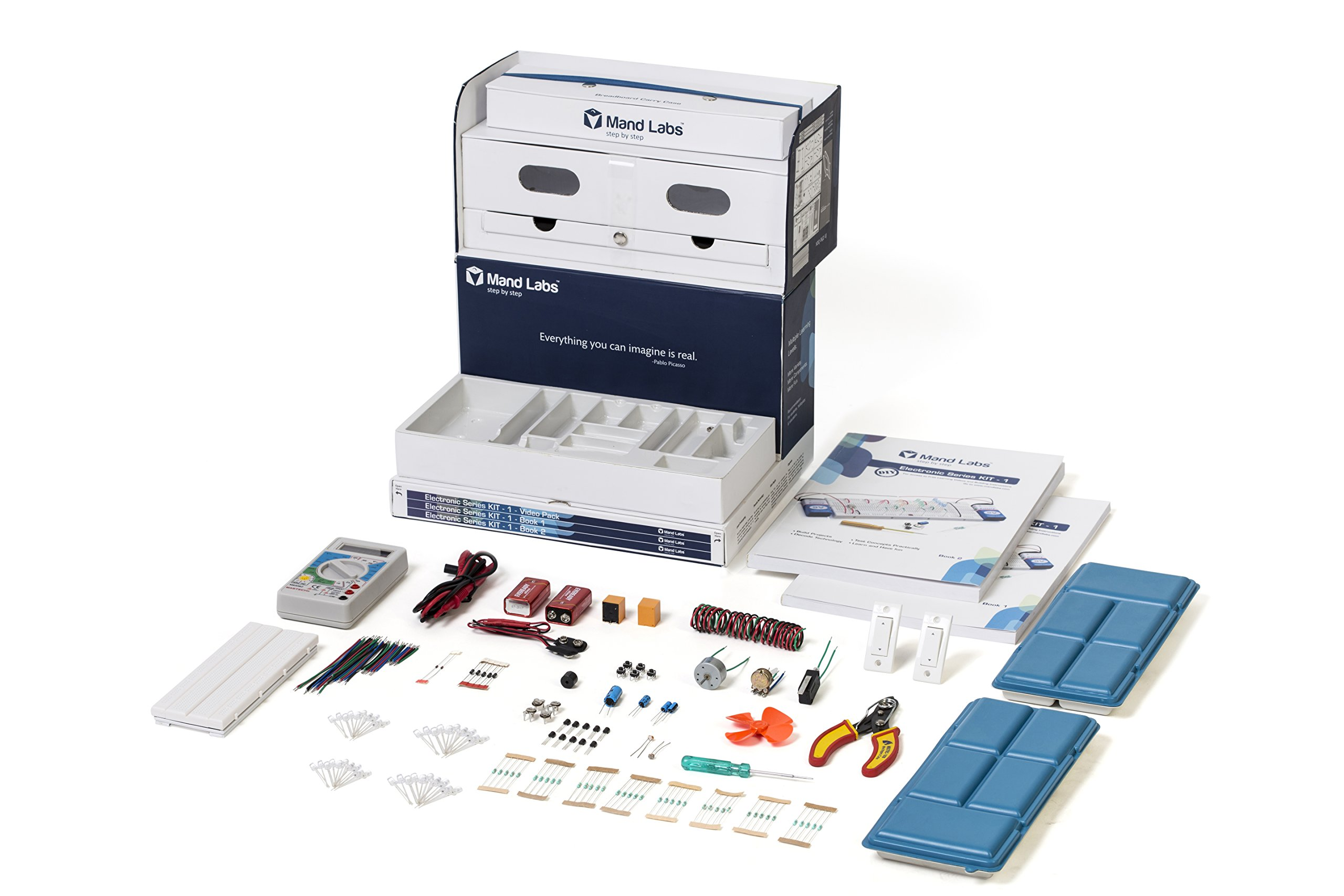 Mand Labs KIT-1 Standard Edition: The Coolest DIY Kit for Fun Learning in Electronics | $40 Off Available | After discount-$110 | |The Best STEM Gifts-2017 by the Maker Mom | i-Design Award-15 |