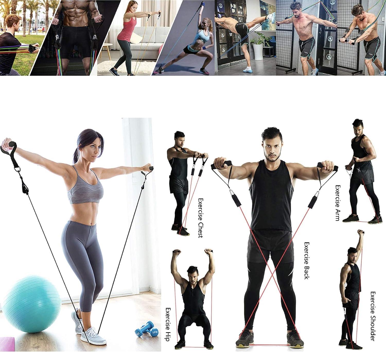 Set Multifunktions-TPE-Zugseil-Trainingswiderstands-Fitnessgerät 11 Stück