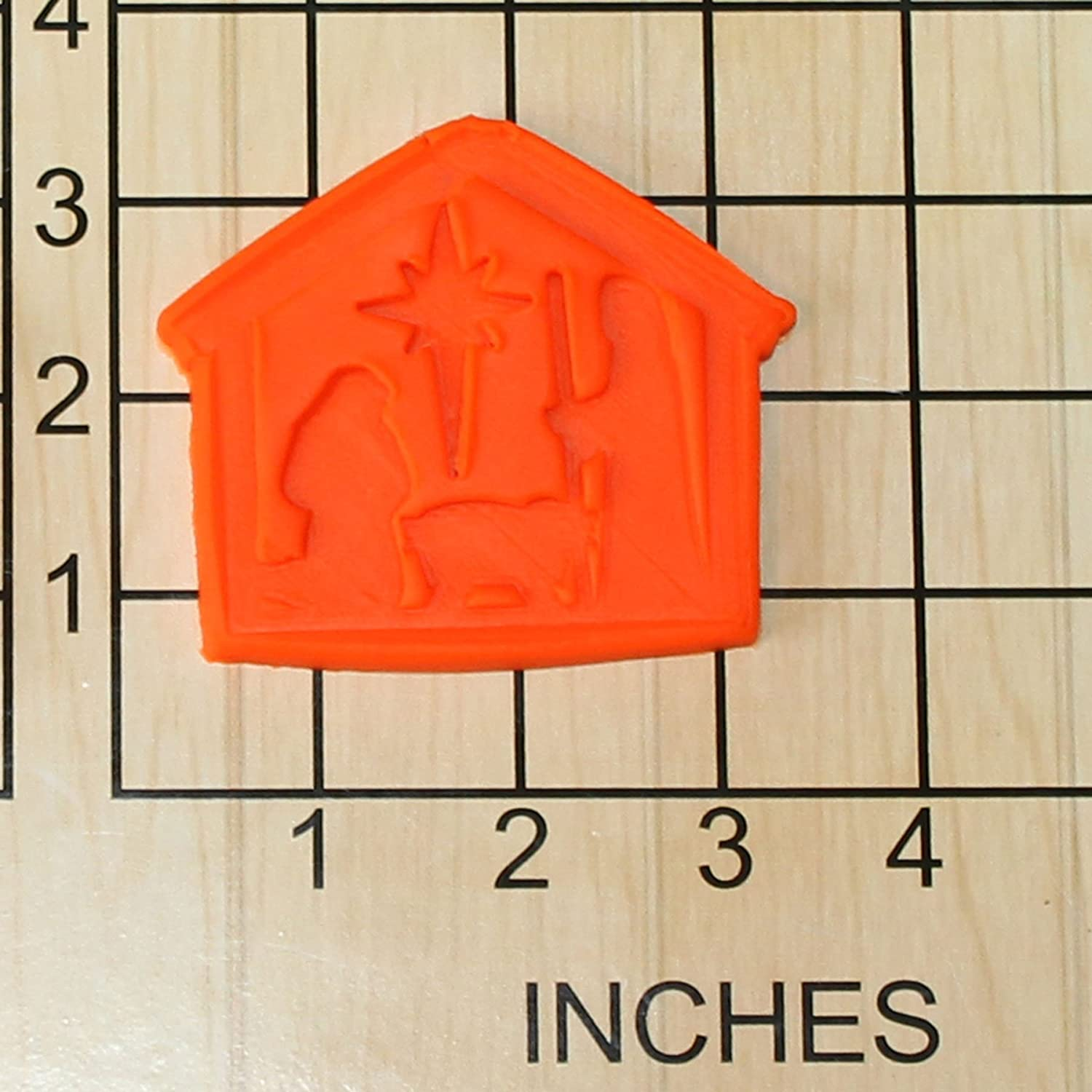 Christmas Manger Shape Fondant Cookie Cutter and Stamp #1432