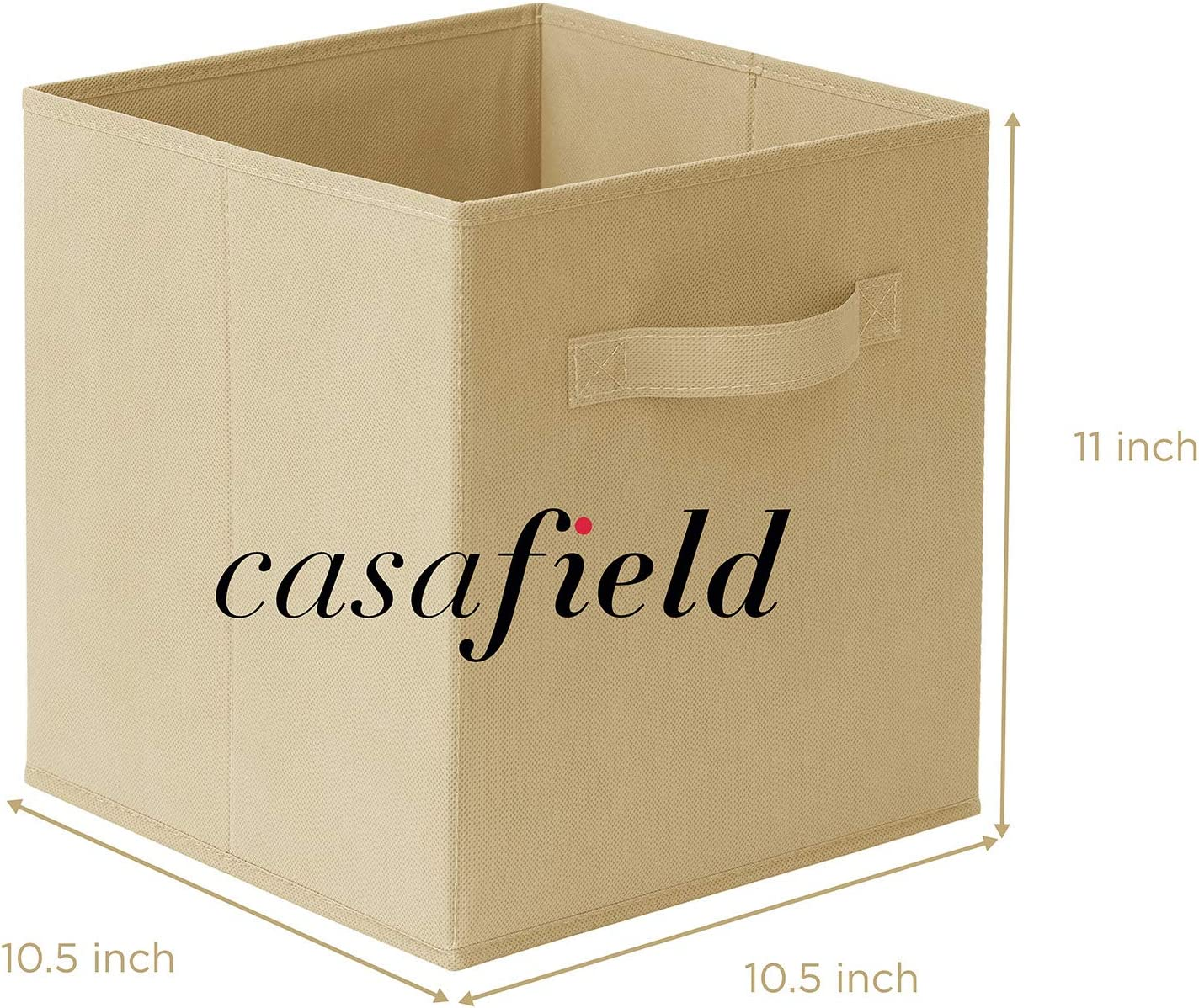 Cubby Organizers /& More Casafield Set of 6 Collapsible Fabric Cube Storage Bins Baby Blue 11 Foldable Cloth Baskets for Shelves