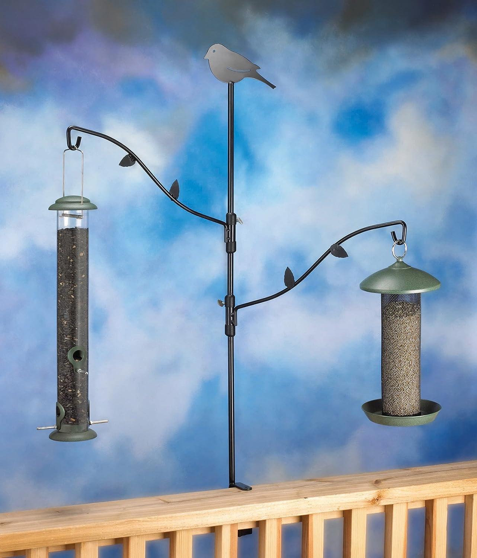 easy winter and feeding poles duncraft make deck feeders bird hangers decks for feeder