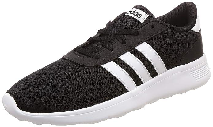 adidas Lite Racer Herren schwarz mit weißem Streifen