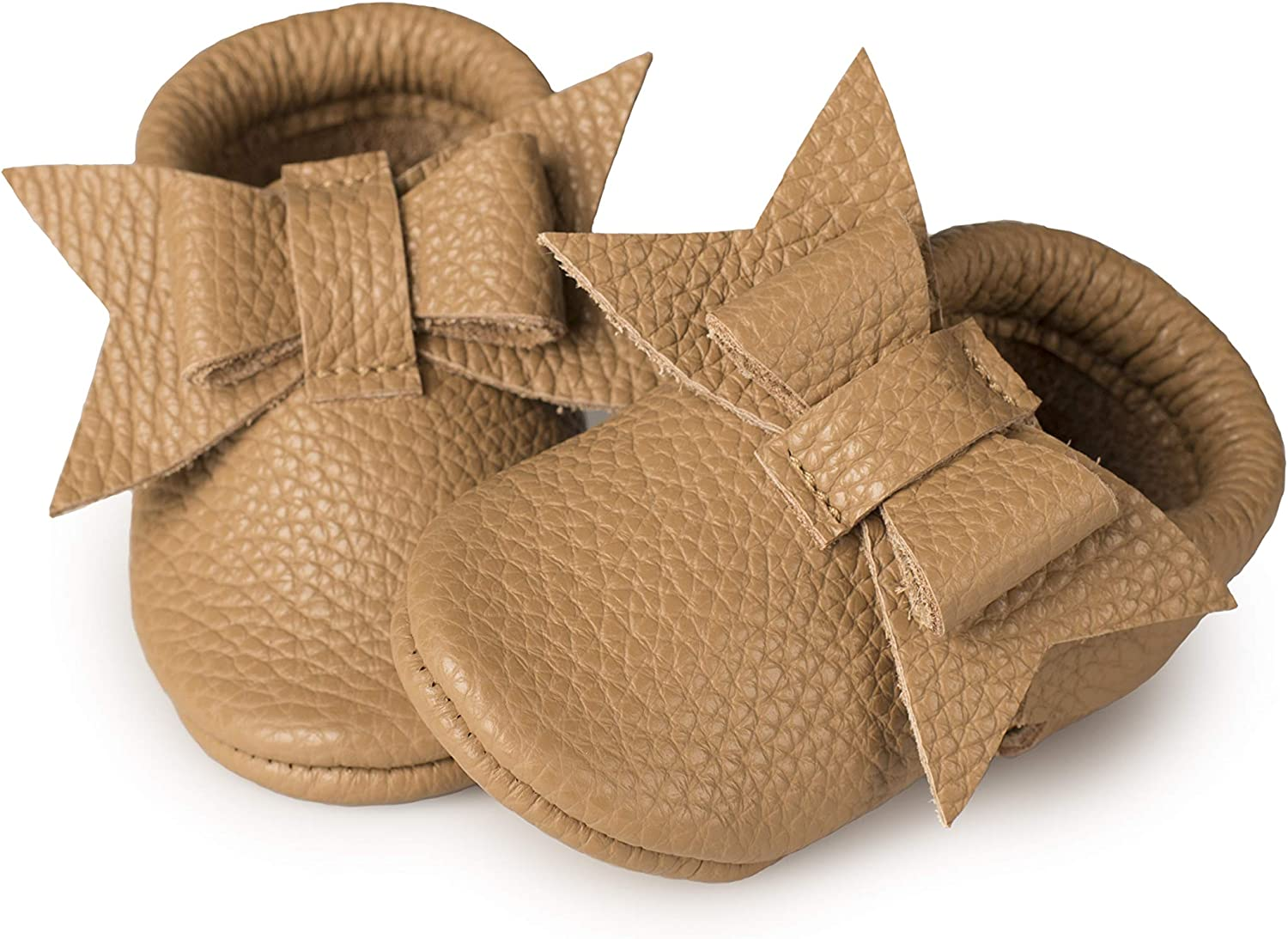 Soft Sole Shoes for Girls Littlebeemocs Bow Baby Moccasins Toddlere Italian Leather Infants Babies
