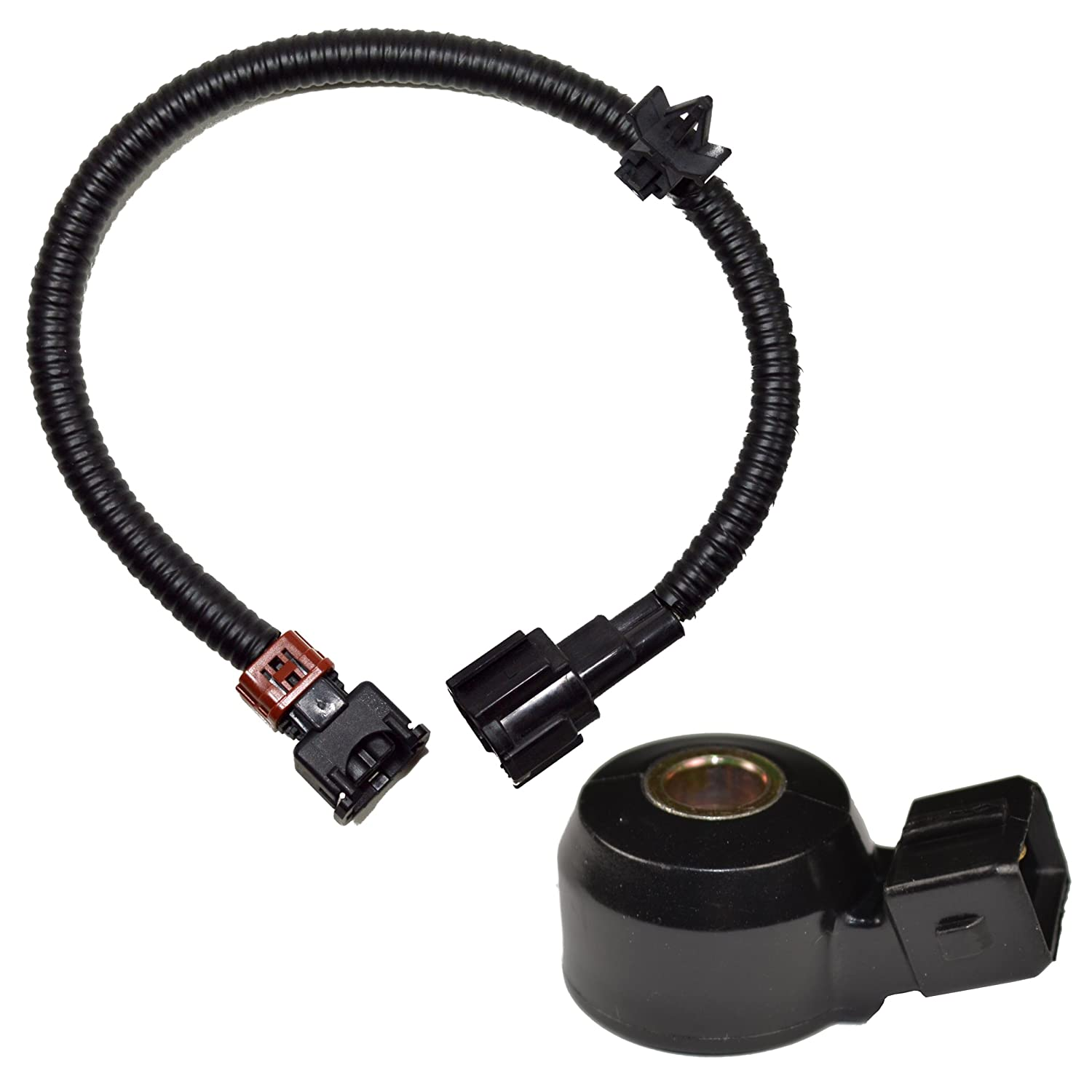 81eAZ58dHKL._SL1500_ amazon com hqrp knock sensor w wiring harness for nissan 99 pathfinder knock sensor harness at reclaimingppi.co