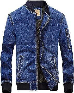 デニムジャケット メンズスタンドカラーレギュラーフィット長袖 カジュアルコットン伸縮性裾デニムコートジャケット