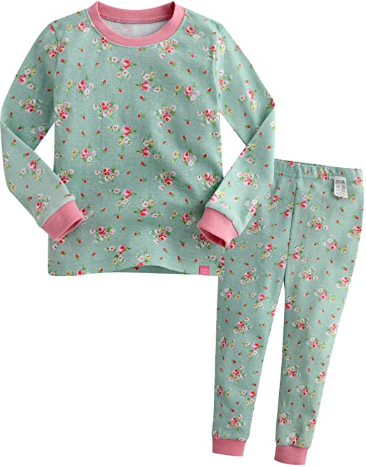 Vaenait baby [FreeShipping] 1 – 7 años niñas Manga Larga Pijama Pijamas Juego Rosa