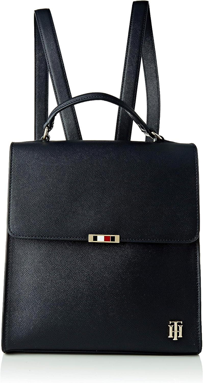 Tommy Hilfiger Saffiano Backpack, Mochila Mujer, Talla única