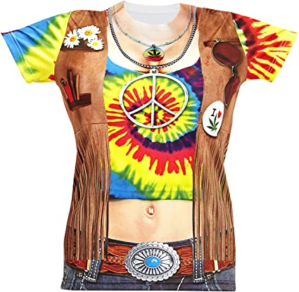 Widmann – Camiseta hippie para mujer : Amazon.es: Juguetes y ...