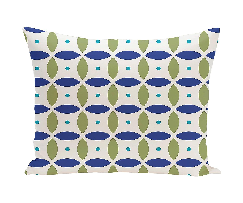 E by design Beach Ball Geometric Print Pillow Soft Lemon 20-Inch Length