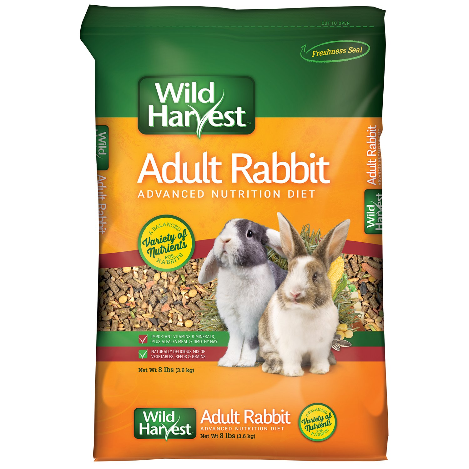Wild Harvest Advanced Nutrition Diet For Adult Rabbits, 8 Lbs by Wild Harvest