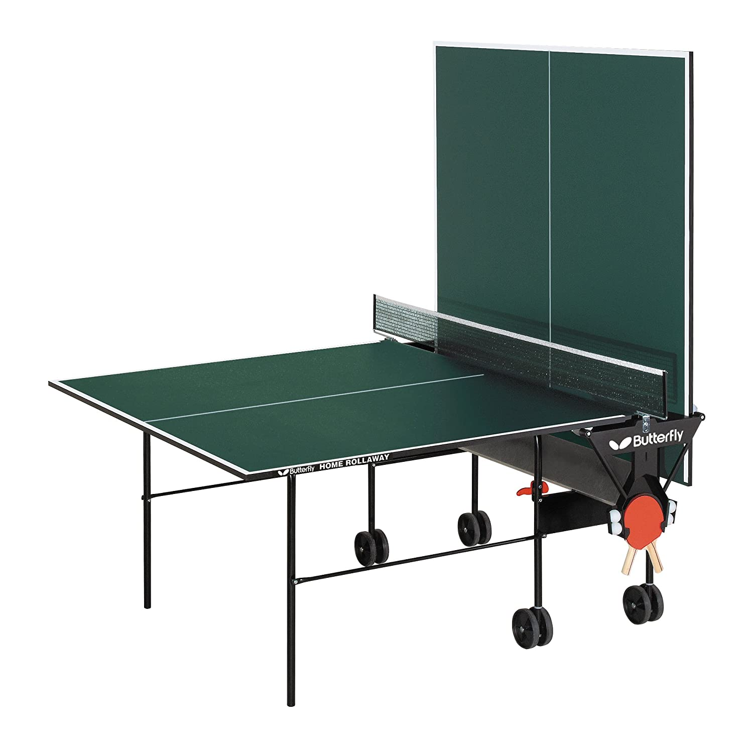 Amazon.com : Butterfly TR16 Home Rollaway Table Tennis Table ...