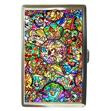 Amazon all character disney cartoon stainless steel business all character disney cartoon stainless steel business card name holder case colourmoves Gallery