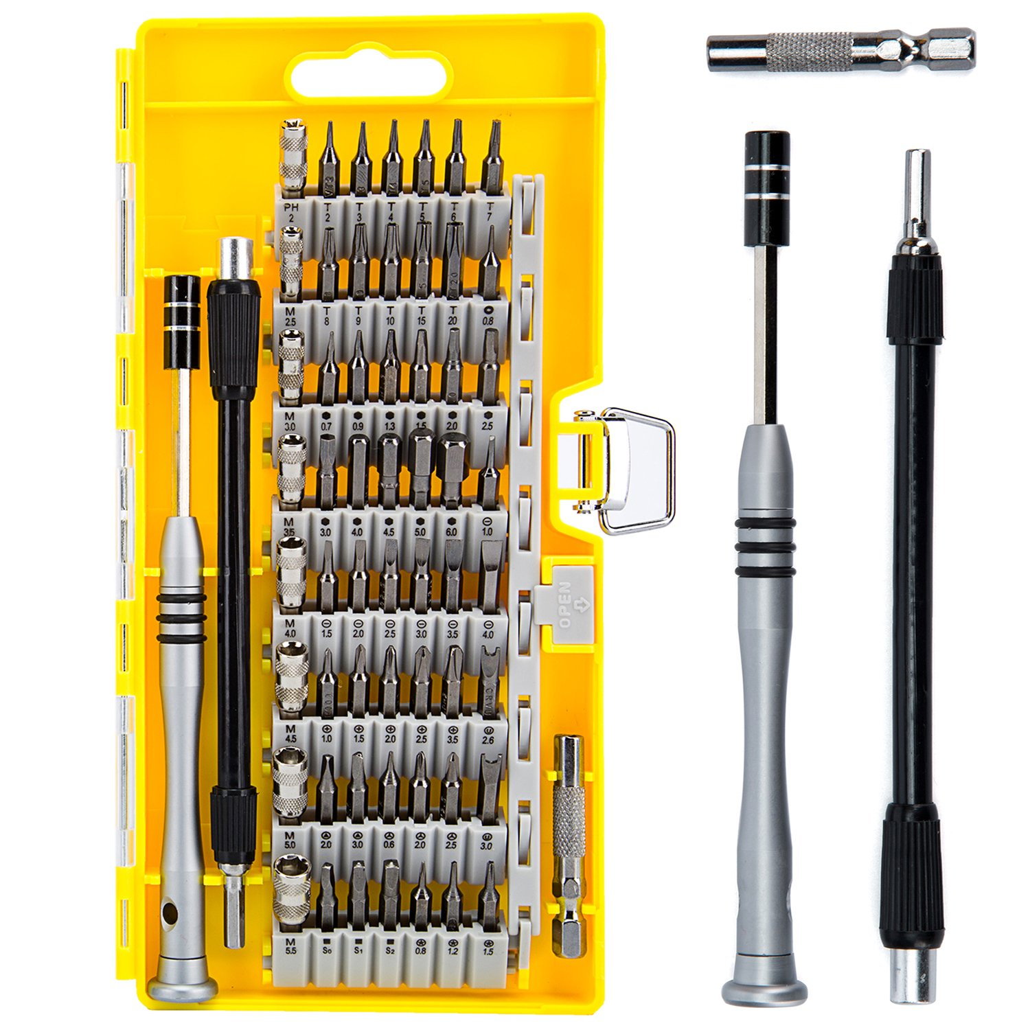 Screwdriver Set, Magnetic Driver Kit, 60 in 1 with 56 Bit Precision Screwdriver Set for iPhone, Xbox, Tablet, PC, Macbook, Electronics Repair Tool Kit by NUOYIGAOGE