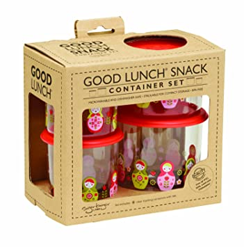 Amazoncom Sugarbooger Good Lunch Snack Container Matryoshka Doll
