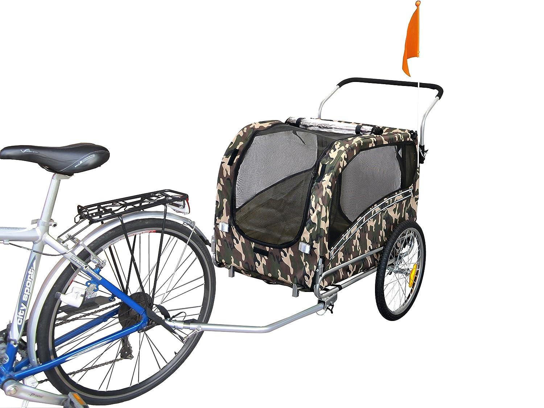 Polironeshop Argo Dog Cart Bicycle Trailer Animal Carrier Pet Bike Trolley with Door