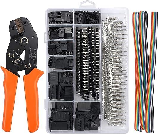 QLOUNI Dupont Crimpwerkzeug SN-28B Crimp Tool Crimpzangen f/ür 28-18AWG 0.1-1.0mm/² Dupont Ratsche-Crimper f/ür 2.54mm Verbindungstecker