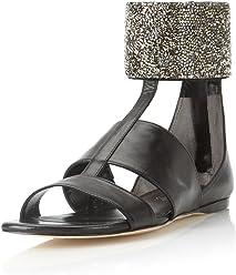 704c43f11ff Alejandro Ingelmo Women s Anni Crystal Flat Sandal
