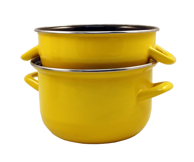 24 cm Cacerola para mejillones Baumalu 312869 color amarillo