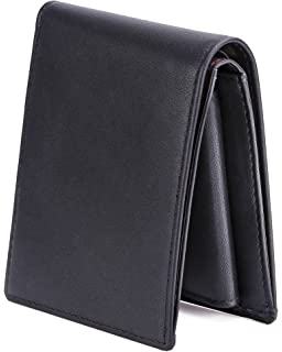 Brown//Tan StarHide RFID Blocking Passcase Genuine Leather Handmade Wallet for Men Bifold Style Coin Wallet with 2 ID Holder 1216
