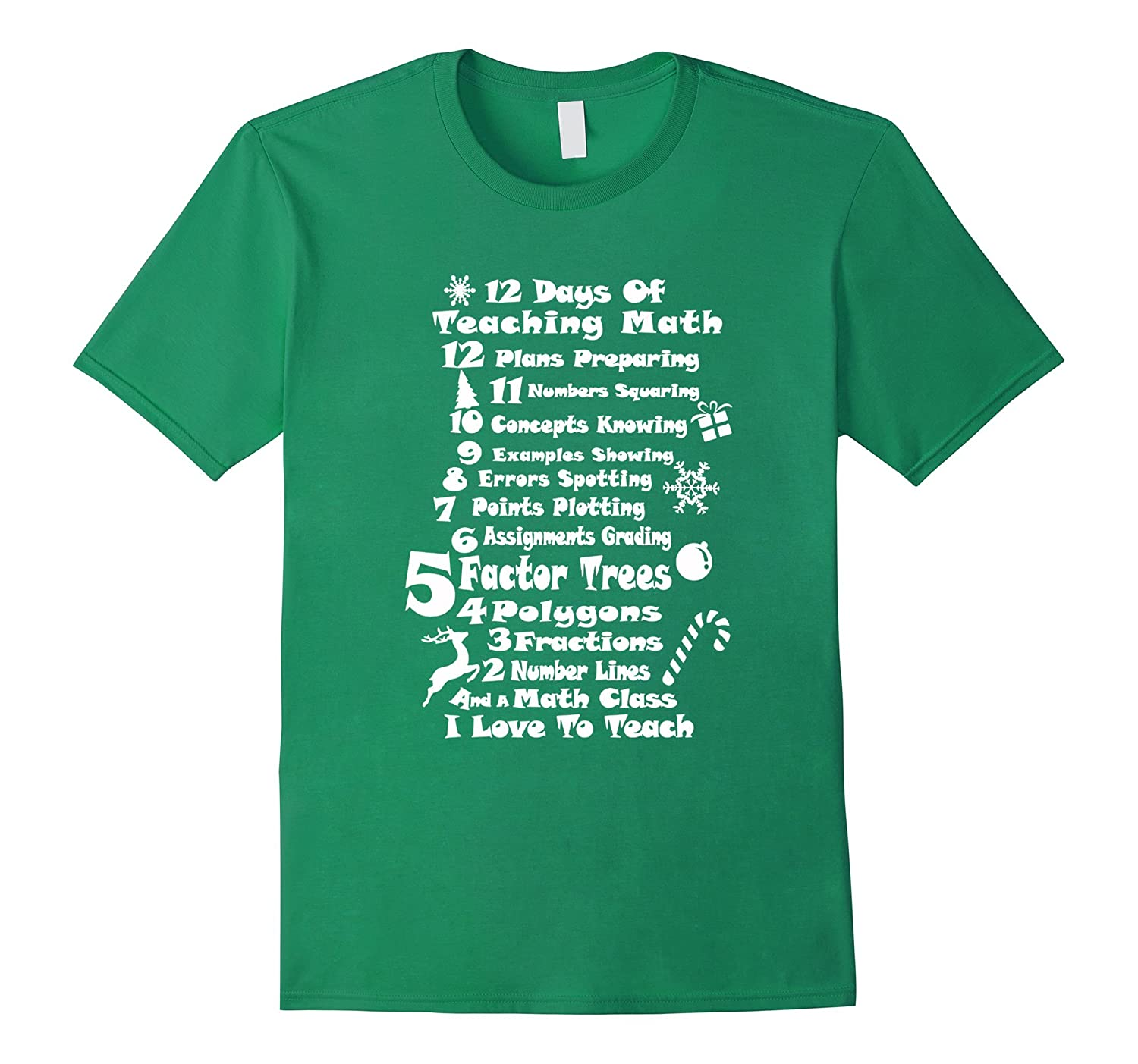 12 Days Of Teaching Math Christmas T-Shirt-Art – Artvinatee